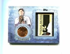 MAX SCHERZER NATIONALS 2015 TOPPS COIN & STAMP CARD #20 #34/50 ABRAHAM LINCOLN
