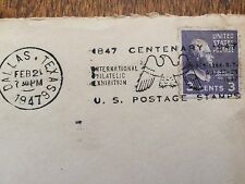 vintage 1947 postmarked Envelope w 1938 scott #807 3 cent stamp Thomas Jefferson