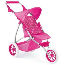 Baby Dolls Deluxe 3 Wheel Wheeler Buggy Stroller Jogger Pram Pushchair Girls Toy