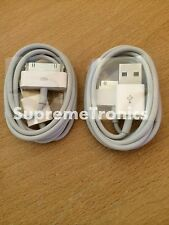 2 x Genuine Apple iPod Nano Shuffle Touch Classic USB Charger Sync Lead Cables