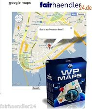 ►►WORDPRESS MAPS PLUGIN ►GOOGLE MAPS WP WORD PRESS STREET VIEW SOFTWARE TOOL MRR