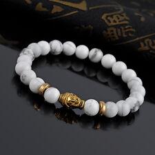 1PC Men's Gold Plated Buddha Elastic Beaded Charm Bracelet Tibet Lucky Bracelets