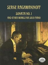 Serge Rachmaninoff Sonata No 1 Other Works Solo Piano Play CLASSICAL Music Book