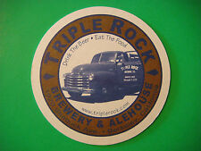 Beer Coaster Mat  ^^  TRIPLE 3 ROCK Brewery & Alehouse, CALIFORNIA ~ To Go Boxes