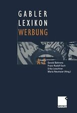 NEW - Gabler Lexikon Werbung (German Edition)