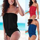 Badeanzug Strandkleid Zweiteiligen Tankini Schwimmanzug Bademode Trägerlose