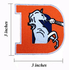 Denver Broncos Logo 3 Inches Embroidered Iron On Patch.