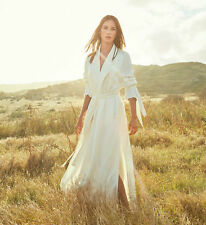 ZARA WHITE STUDIO LONG TRENCH COAT SS16 SIZE M (ONE SIZE FITS ALL)