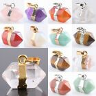1Pc Healing Chakra Gemstone Stone Hexagon Prism Bead Pendant Charms Fit Necklace