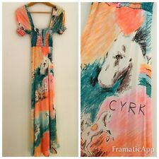 VINTAGE WOMEN's 1970's G2G Rare CYRK CIRCUS HORSES Pattern Dress Size XS/S