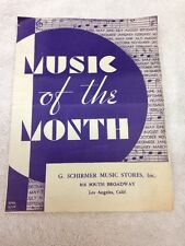 G. Schirmer Music Stores, Music Of The Month Handout, 1933, Los Angeles, CA
