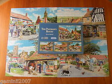 GIBSONS PUZZLE The Postman's Round - 4 x 500 Piece Jigsaw - Complete - VVGC XMAS