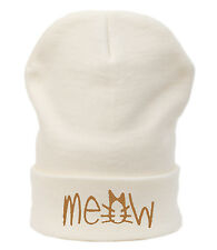 Casual BEANIE HAT MEOW Worm Winter Fashion Wool Baggy Slouch SKI