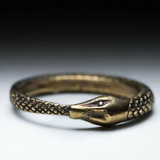 Ouroboros Ring, brass, size 17mm / US 6.5, handmade