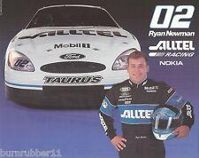 "2002 RYAN NEWMAN ""ALLTEL FORD PENSKE"" #02 NASCAR BUSCH SERIES POSTCARD"