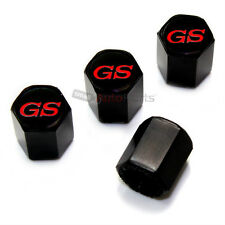 (4) Buick GS Red Logo Black Tire/Wheel Air Pressure Stem Valve CAPS Covers