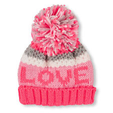 Toddler Girls 'SUPER' Pom Pom Beanie Hat HAT size L (8+YR)