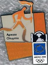 LE 2004 Athens Ancient Olympia Pictogram Olympic International Torch Relay Pin