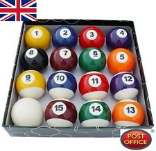 Novelty Durable Set of 16 Miniature Small Mini Pool Balls Billiard NEW EWUK