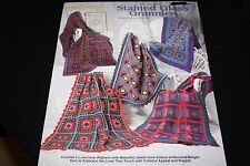 Stained Glass Granny Afghan Book Patterns Crochet Afghans    -N