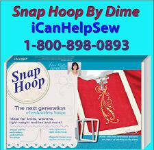 """Dime Snap Embroidery Hoop 7""""X12""""-Ellisimo, Ellegante, Quattro, Duetta, &  XV8500"""