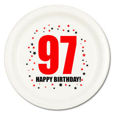 97th BIRTHDAY DESSERT PLATES 8/pk Small Lunch Plate Birthday Party Supplies T141
