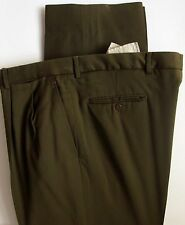 Brioni Sport Wool Pants 39 x 27 Brown Dress Trousers Double Pleat