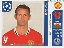 N°147 RYAN GIGGS # WALES MANCHESTER UNITED STICKER CHAMPIONS LEAGUE 2012