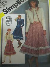 Vintage Simplicity 5491 GUNNE SAX SKIRT & BLOUSE Sewing Pattern Women Sz 12