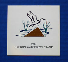 U.S. (OR16A) 1999 Oregon State Duck Stamp booklet with minisheet (MNH)