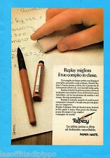 ALTOP981-PUBBLICITA'/ADVERTISING-1981- PAPER MATE - PENNA A SFERA REPLAY (A)
