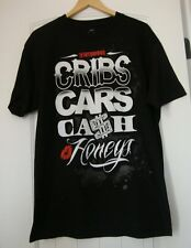 "NOTORIOUS Family Black T-shirt  ""Cribs Cars Cash Honeys ""size L  NWOT"