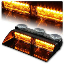 16LED Emergency Hazard Warning Strobe Flash Light 18 Modes for Windshield Amber