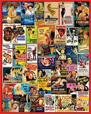 "COLLAGE OF VINTAGE ""MOVIE POSTERS"" 1000 PIECE JIGSAW PUZZLE 24""x30"" NEW"