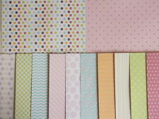 "12 sheets 6x6"" Scrapbook Backing Papers Dovecraft Back to Basics Bright Spark"
