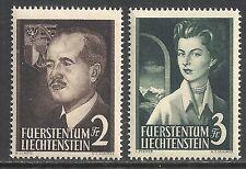 Liechtenstein stamps 1955 MI 332-333  MLH  VF