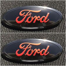 NEW 2004 - 2014 FORD F-150 RED OVAL FRONT GRILLE & REAR TAILGATE 9 INCH EMBLEM