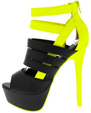 Sexy Ankle booties Strappy Peep Toe Stiletto High Heel Platform Pumps Shoes H31