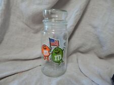 "Vintage 1984 Summer Olympics Los Angeles M&Ms M and M Glass Jar 8"" Hocking"