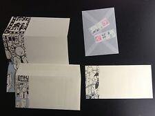 Lot de 2 enveloppes papier à lettre Tintin + 2 Timbres ETAT NEUF