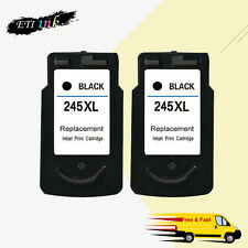 2PK PG-245XL 245 XL Ink Cartridge For Canon PIXMA iP2820 MG2420 MG2520 MG2922