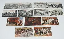 13 Original Photo postcard set Great kanto Earthquake 1923 Tokyo Japan