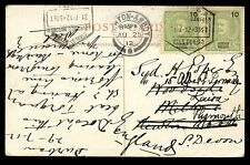 Portugal Lourenco Marques 1912 PPC CAES GARJAO to England pair 10c