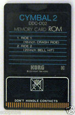 Korg ROM Memory Card DDC-D02 Cymbal 2, for DDD-1 and DDD-5 Drum Machines