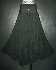 NEW LONG BLACK GOTHIC SKIRT Plus Size 16 18 20 Maxi Medieval Peasant Gypsy Boho