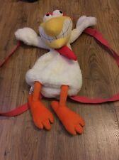 """POLLO/mucca e pollo cartoon 2001 peluche giocattolo Back Pack Bianco Large 26""""/66cm"""
