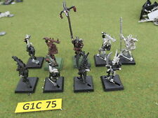 Warhammer AoS Fantasy 9 oop metal Chaos Beastmen Warriors - Gors w command figs