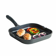Induction Grill Pan- Suitable for all Hobs 28cm Non Stick Quality Cast Aluminium