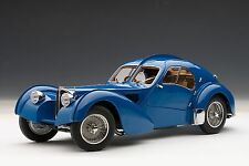 AutoArt Bugatti 57SC Atlantic 1938 - Blue With Metal Wire-Spoke Wheels 70943