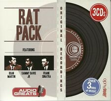 THE RAT PACK FEATURING DEAN MARTIN SAMMY DAVIS JR & FRANK SINATRA - 3 CD BOX SET